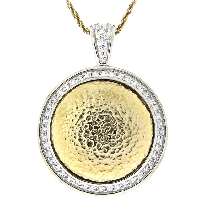 Icz Stonez Sterling Silver Cubic Zirconia Circle Necklace
