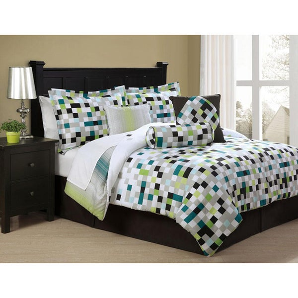 Pixel Screen 7-piece Microfiber Comforter Set