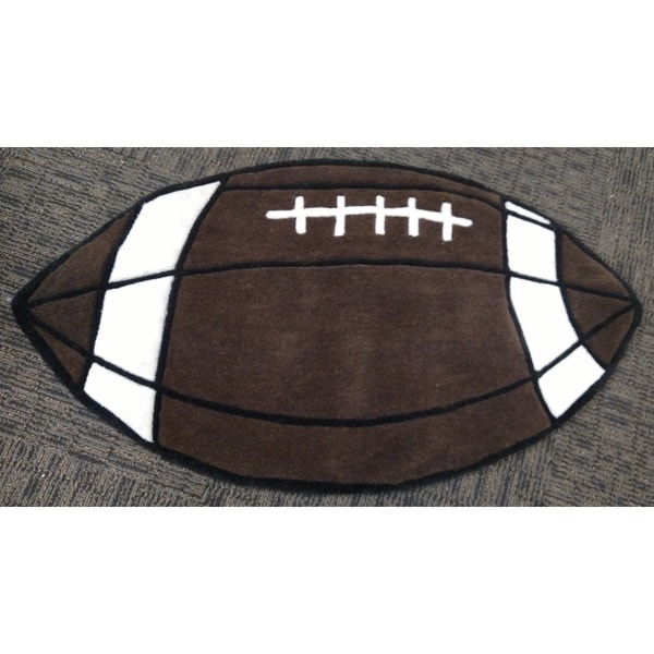 Shop Hand-tufted Football-shaped Rug