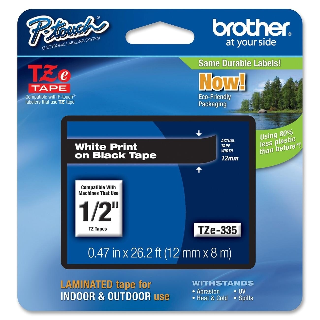 Brother TZ Label Tape Cartridge, Blue