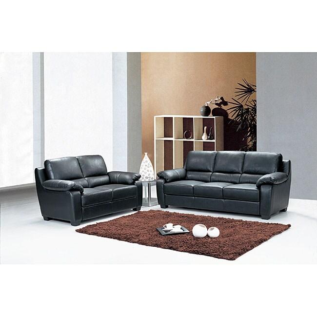 Italia Designs Sturgis Leather 2-piece Sofa Set