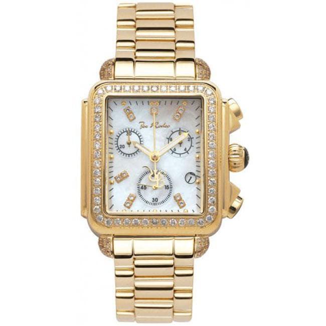 Joe Rodeo Women's Madison Gold Plated 2ct Diamond Watch