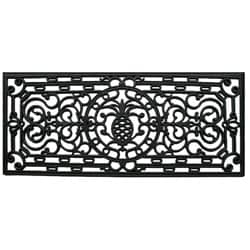 Renaissance Pineapple Rectangle Rubber Door Mat (17 x 41)