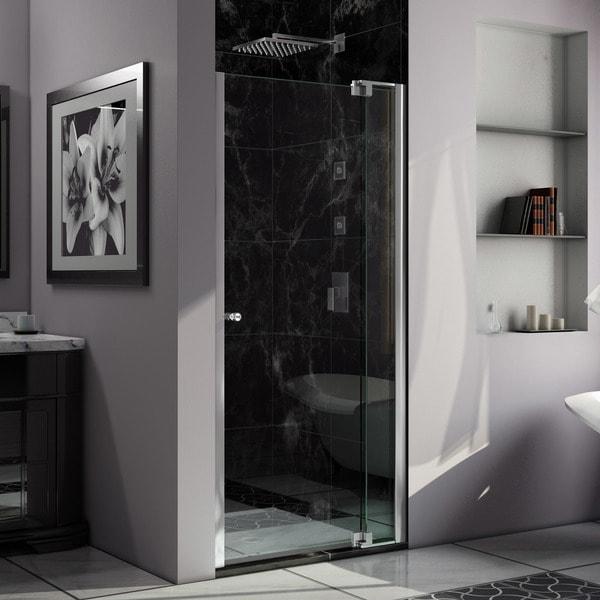 DreamLine Allure 36 to 37 in. Frameless Pivot Shower Door, Clear Glass Door