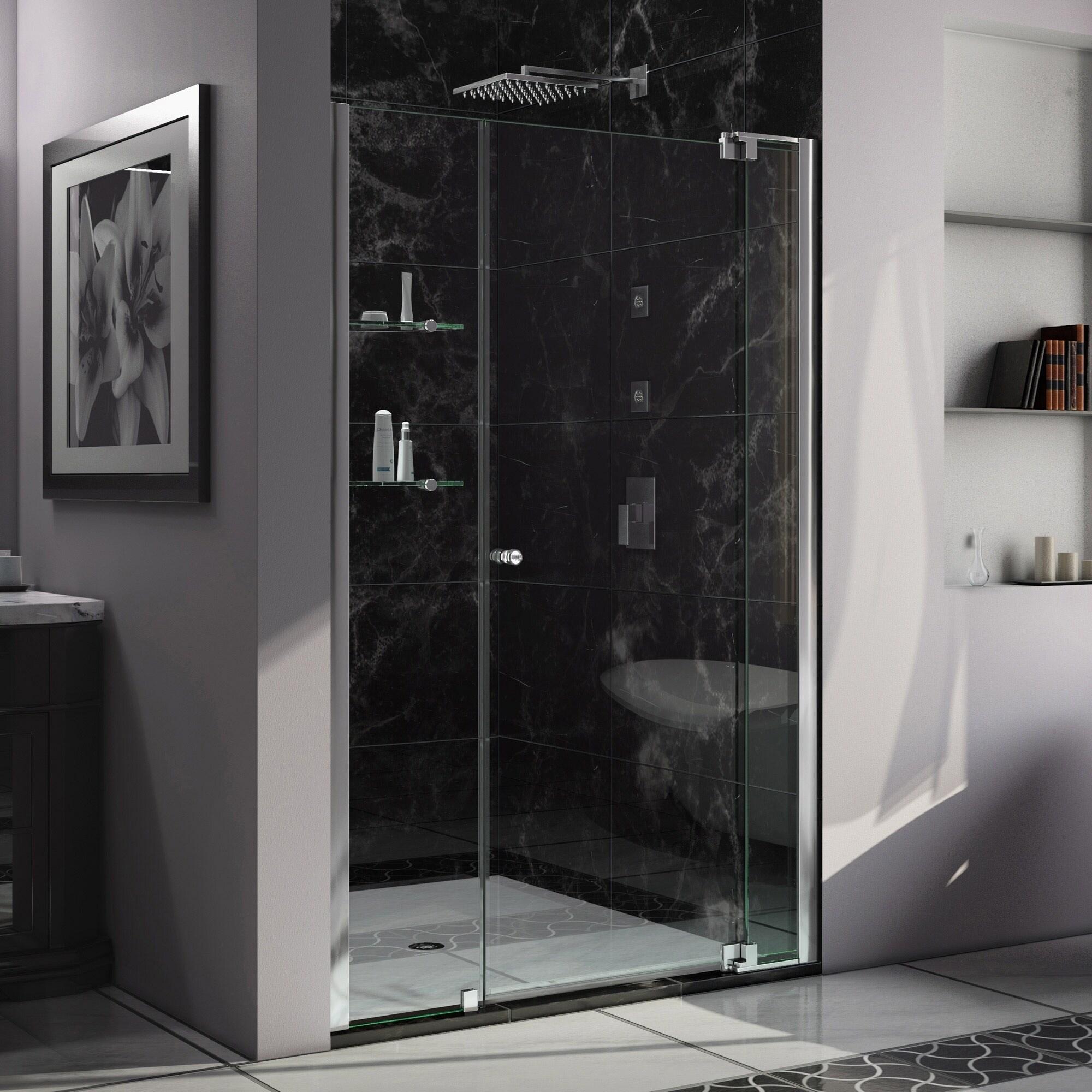 Dreamline Allure 42 43 In W X 73 In H Frameless Pivot Shower Door 42 43 W