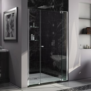 DreamLine Allure 42 to 43-inch wide x 73-inch high Frameless Pivot Clear Glass Shower Door in Chrome Finish