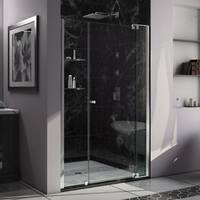DreamLine Allure 42 to 43 in. Frameless Pivot Shower Door, Clear Glass Door