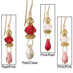 'Mi Amor' 14k Gold Fill Crystal Earrings