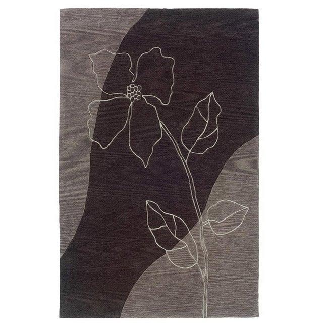 Urban Fashions Hand-tufted Black/ Grey Rug (5' x 7'9)