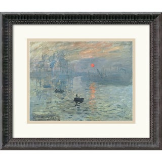 Framed Art Print 'Impressions at Sunrise, 1873' by Claude Monet 18 x 16-inch
