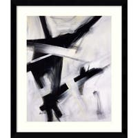 Framed Art Print 'Black and White' by Eva Carter 33 x 39-inch