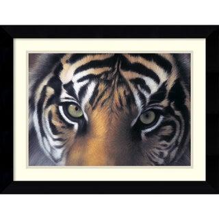 Charles Alexander 'Eyes of the Goddess: Sumatran Tigress' Framed Art Print
