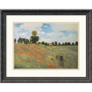 Claude Monet 'Poppies at Argenteuil, 1873' Small Framed Art Print
