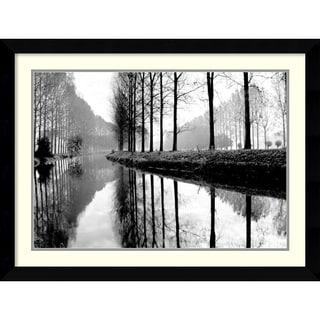Bill Philip 'Canal, Normandy' Framed Art Print