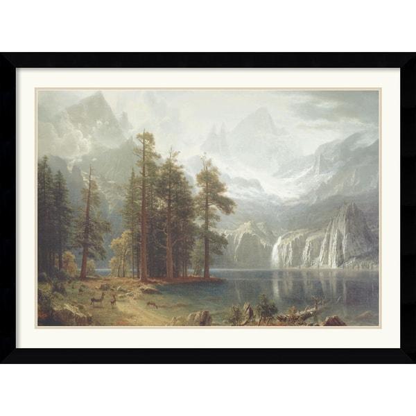 Framed Art Print 'Sierra Nevada' by Albert Bierstadt 43 x 32-inch