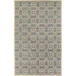 Hand-tufted Glamorous Grey Wool Rug (8' x 11')