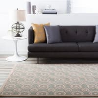 Hand-tufted Glamorous Grey Wool Area Rug - 8' X 11'