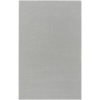 """Hand-crafted Solid Grey/Blue Ridges Wool Area Rug - 7'6"""" x 9'6""""/Surplus"""