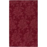 """Hand-crafted Solid Red Mesa Wool Area Rug - 3'3"""" x 5'3"""""""