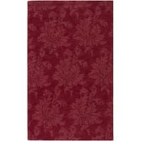 Hand-crafted Solid Red Mesa Wool Area Rug - 8' x 11'