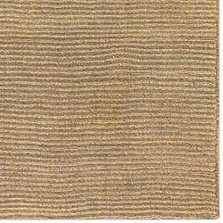 Hand-crafted Solid Pale Gold Casual Ridges Wool Rug (6' x 9')