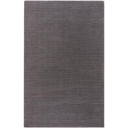 Hand-crafted Solid Brown Casual Ridges Wool Area Rug (7'6 x 9'6) - 7'6 x 9'6 - Thumbnail 0