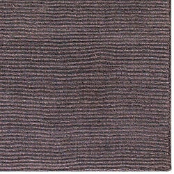 Hand-crafted Solid Brown Casual Ridges Wool Rug (7'6 x 9'6) - Thumbnail 1