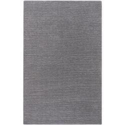 Hand-crafted Solid Grey Casual Ridges Wool Area Rug - 7'6 x 9'6 - Thumbnail 0