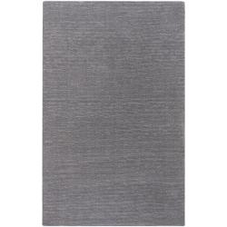 Hand-crafted Solid Grey Casual Ridges Wool Area Rug - 9' x 13' - Thumbnail 0