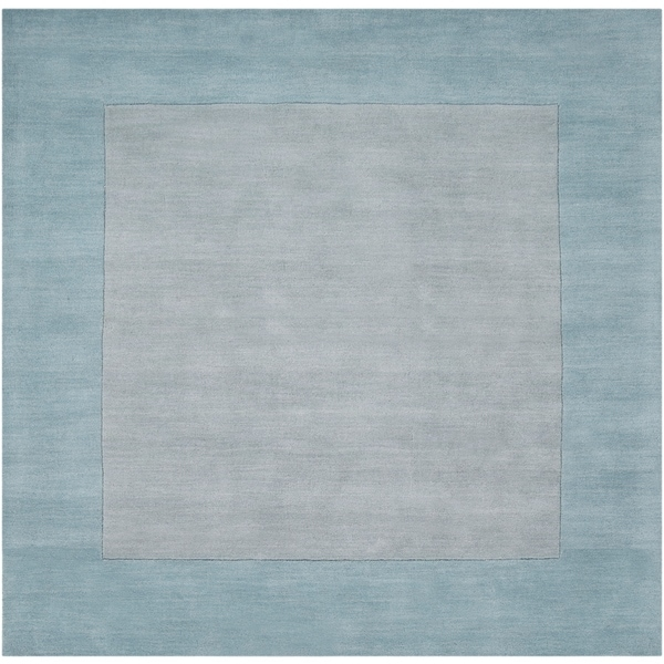 Shop Hand Crafted Light Blue Tone On Tone Bordered Wool