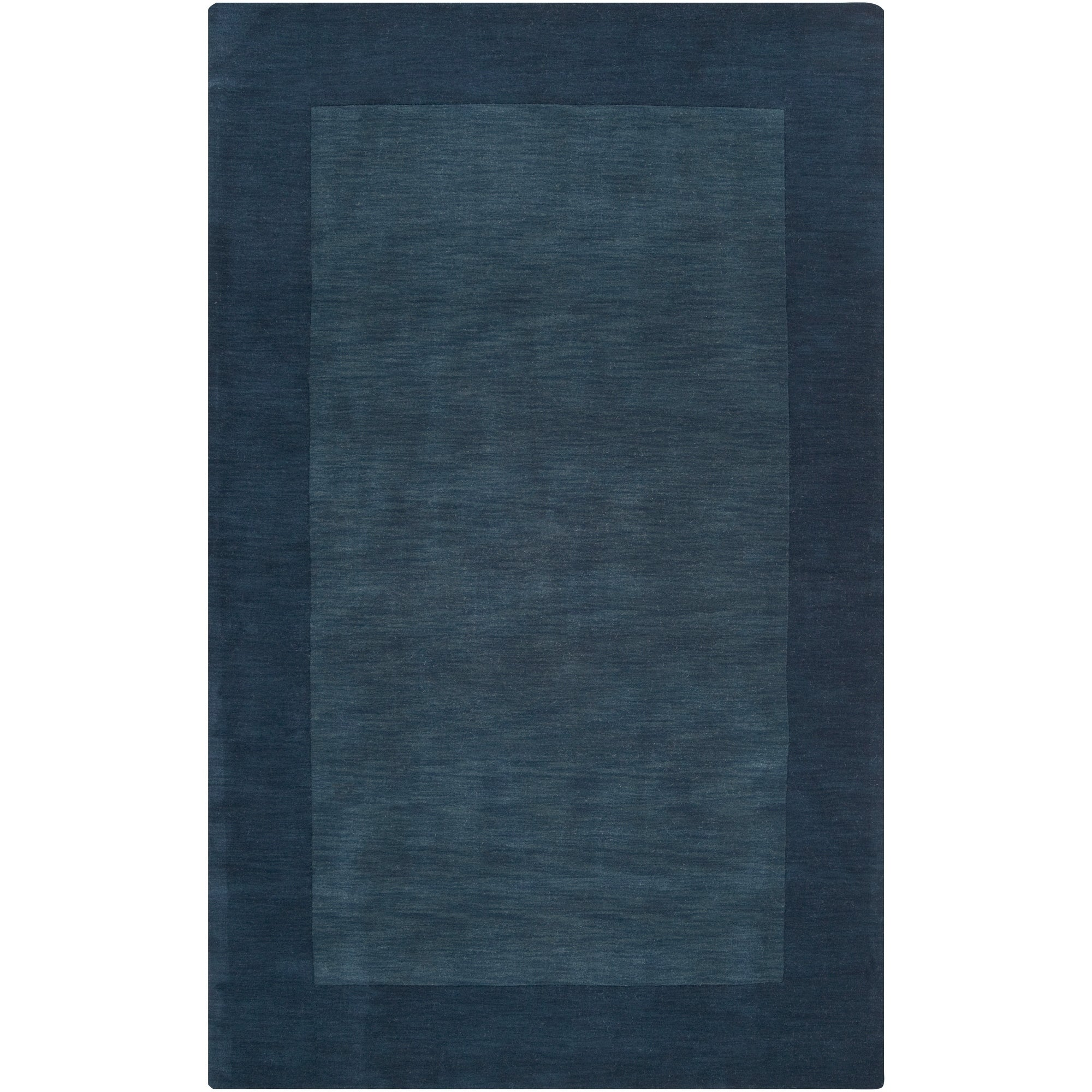 Hand Crafted Navy Blue Tone On Bordered Wool Area Rug 6 X 9 Surplus