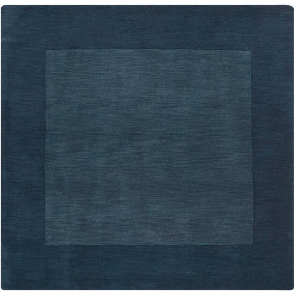 Shop Hand Crafted Navy Blue Tone On Tone Bordered Wool