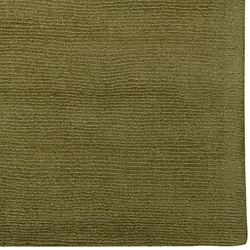 Hand-crafted Solid Green Casual Ridges Wool Rug (7'6 x 9'6) - Thumbnail 1