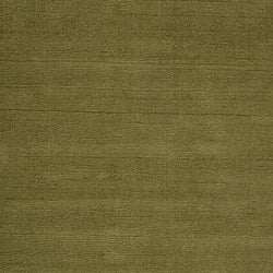 Hand-crafted Solid Green Casual Ridges Wool Rug (7'6 x 9'6) - Thumbnail 2