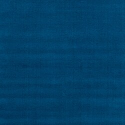 Hand-crafted Solid Blue Causal Ridges Wool Rug (12' x 15') - Thumbnail 2