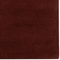 Hand-crafted Brown Solid Casual Ridges Wool Rug (7'6 x 9'6)