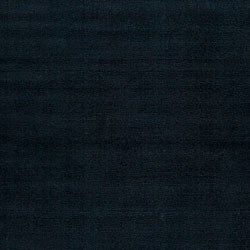 Hand Crafted Navy Blue Solid Causal Ridges Dark Wool Rug