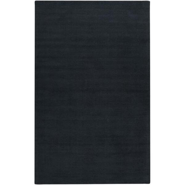 Hand-crafted Navy Blue Solid Causal 'Ridges' Wool Area Rug (6' x 9') - 6' x 9'