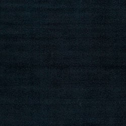 Hand-crafted Navy Blue Solid Causal 'Ridges' Wool Rug (7'6 x 9'6) - Thumbnail 2
