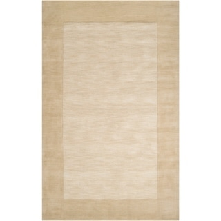 Hand-crafted Beige Tone-On-Tone Bordered Wool Area Rug - 12' x 15'/Surplus
