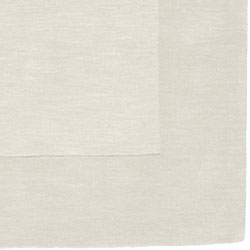 Hand-crafted White Tone-On-Tone Bordered Wool Rug (9' x 13') - Thumbnail 1