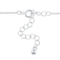 Silvertone Heart Lock and Key 'Love' Charm Necklace - Thumbnail 1
