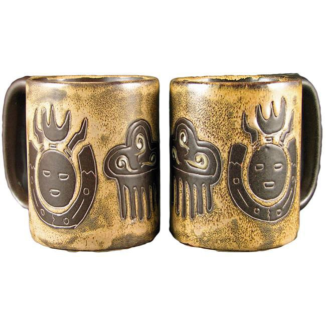 Set of 2 Mara Stoneware 16-oz Raindance Mugs (Mexico)