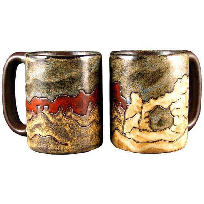 Set of 2 Mara Stoneware Red 16-oz Desert Mugs (Mexico)