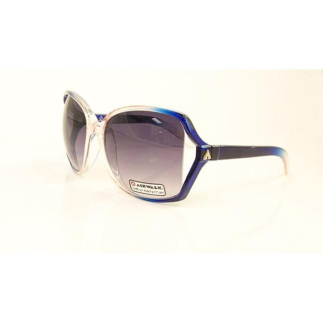 Airwalk Women's 'Bogus' Pink and Blue Oversized Sunglasses