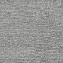 Hand-crafted Solid Grey/Blue Ridges Wool Rug (9'9 Square)