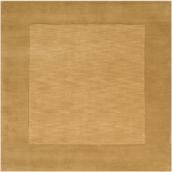 Hand-crafted Tone-on-Tone Bordered Wool Rug (9'9 x 9'9)