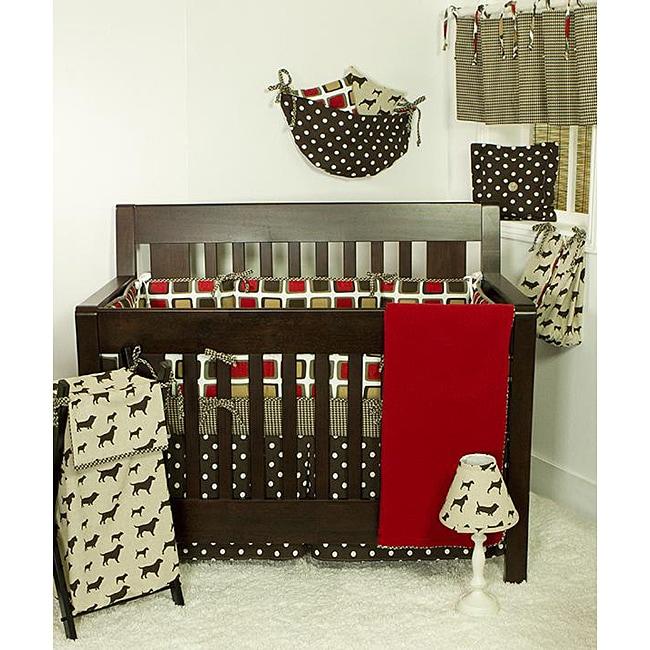 Cotton Tale Houndstooth 4-piece Crib Bedding Set
