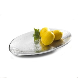 Towle Hammered Aluminum Oval Platter