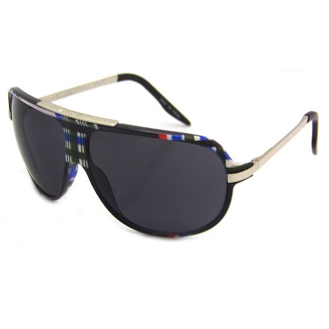 Airwalk Men's 'Ollie' Black Plaid Aviator Sunglasses